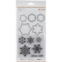 Kaisercraft Die & Stamp Snowflakes DD939 FREE SHIPPING