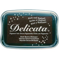 Delicata Pigment Ink Pad Dark Brown Shimmer