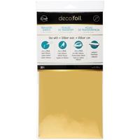 Deco Foil Transfer Sheet 6X12 20/Pkg Gold