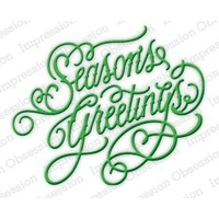 Impression Obsession Die Season's Greetings DIE237S