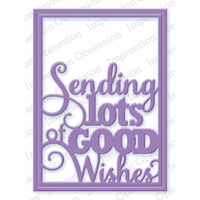 Impression Obsession Die Good Wishes Word Block DIE365W