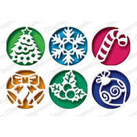 Impression Obsession Die Christmas Circle Cutouts DIE482X