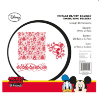 Tattered Lace Disney Vintage Baubles Embossing Folder DIS0117-EFDL003 FREE SHIPPING