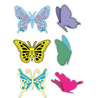 Cheery Lynn Designs DL112AB Exotic Butterflies Small #1 with Angel Wings