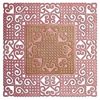 Cheery Lynn Designs Die DL317 Lords And Commons Square Doily 2 Piece Die Set