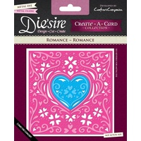 Crafter's Companion Die'sire Dies Create-A-Card 6 x 6 Romance FREE SHIPPING