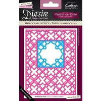 Crafter's Companion Die'sire Dies Create-A-Card A2 Morrocan Lattice