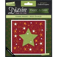 Crafter's Companion Die'sire Dies CreateACard 6x6 Starry Night