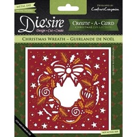 Crafter's Companion Die'sire Dies Create-A-Card 6x6 Christmas Wreath