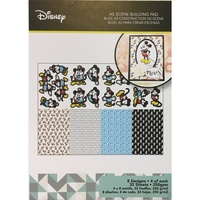 Disney Vintage Mickey Mouse A5 Scene Building Pad 32 Sheets DUS0172