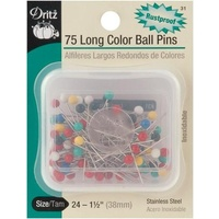 Pins Stainless Steel 75 Long Colour Ball 38mm