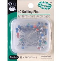Pins Stainless Steel 40 Quilting Extra Long Colour Ball 45mm