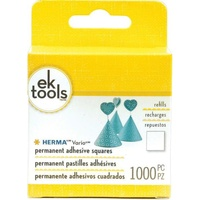 EK Success Herma Vario Permanent Adhesive Squares Refill 1000/PC