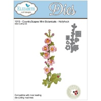 Elizabeth Craft Designs Dies Countryscapes Mini Botanical Hollyhock