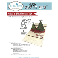 Elizabeth Craft Designs Dies Pop it Ups Christmas Trees Pop Stand