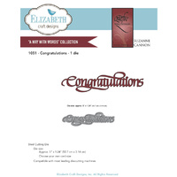 Elizabeth Craft Designs Dies Quietfire Congratulations