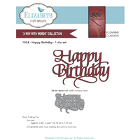 Elizabeth Craft Designs Dies Quietfire Happy Birthday