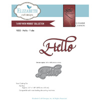 Elizabeth Craft Designs Dies Quietfire Hello