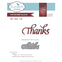 Elizabeth Craft Designs Dies Quietfire Thanks