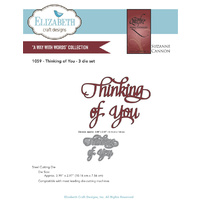 Elizabeth Craft Designs Dies Quietfire Thinking of You