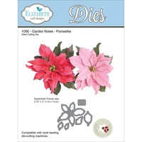 Elizabeth Craft Designs Dies Garden Notes Poinsettia