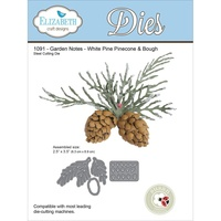 Elizabeth Craft Designs Dies Garden Notes Whitepine Boughs