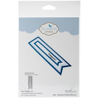 "Elizabeth Craft Metal Die Stitch Fishtail Banners - Large 1.8""X6.3"""