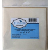 Elizabeth Craft Clear Double-Sided Adhesive 6x6 5/Pkg