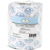Elizabeth Craft Clear Double-Sided Adhesive 15.2cm x 25m Roll