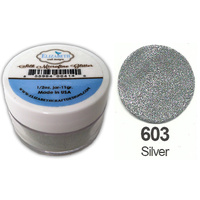 Elizabeth Craft Designs Silk Microfine Glitter 8g Jar 603 Silver