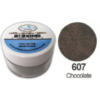 Elizabeth Craft Designs Silk Microfine Glitter 8g Jar 607 Chocolate