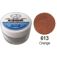 Elizabeth Craft Designs Silk Microfine Glitter 8g Jar 613 Orange
