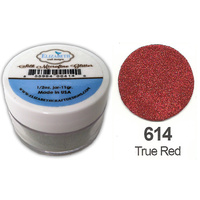 Elizabeth Craft Designs Silk Microfine Glitter 8g Jar 614 True Red
