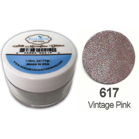 Elizabeth Craft Designs Silk Microfine Glitter 8g Jar 617 Vintage Pink