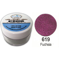 Elizabeth Craft Designs Silk Microfine Glitter 8g Jar 619 Fuchsia