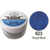 Elizabeth Craft Designs Silk Microfine Glitter 8g Jar 623 Royal Blue