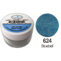 Elizabeth Craft Designs Silk Microfine Glitter 8g Jar 624 Bluebell