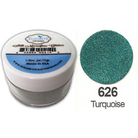 Elizabeth Craft Designs Silk Microfine Glitter 8g Jar 626 Turquoise