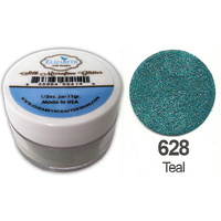 Elizabeth Craft Designs Silk Microfine Glitter 8g Jar 628 Teal
