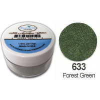 Elizabeth Craft Designs Silk Microfine Glitter 8g Jar 633 Forest Green