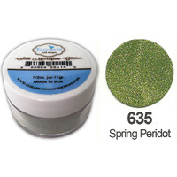 Elizabeth Craft Designs Silk Microfine Glitter 8g Jar 635 Spring Peridot