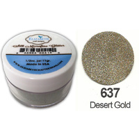 Elizabeth Craft Designs Silk Microfine Glitter 8g Jar 637 Desert Gold