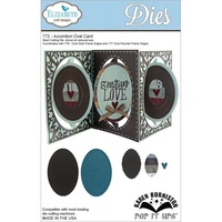Elizabeth Craft Designs Dies  Pop It Up Accordion Oval Card