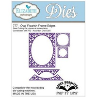 Elizabeth Craft Designs Dies Pop It Up Oval Flourish Frame Edges