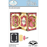 Elizabeth Craft Designs Dies  Pop It Up Katie Label Accordion Card