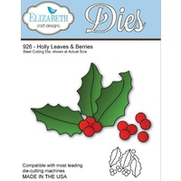 Elizabeth Craft Designs Dies Holly Leaves & Berries