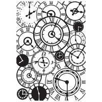 KaiserCraft Embossing Folder Clocks 10.6cm x 15cm FREE SHIPPING