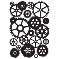 KaiserCraft Embossing Folder Cogs 10.6cm x 15cm FREE SHIPPING