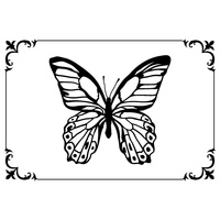 KaiserCraft Embossing Folder Framed Butterfly 10.6cm x 15cm FREE SHIPPING