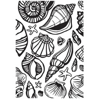 KaiserCraft Embossing Folder Sea Shells 10.6cm x 15cm FREE SHIPPING